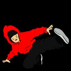 HipHopなブレイクダンスのスタンプPart2