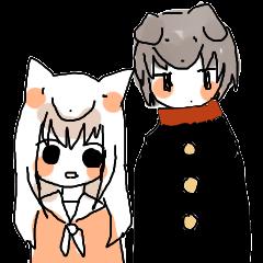 狐付きちゃんと犬神先輩
