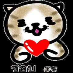 かわいい猫 タイ語&日本語