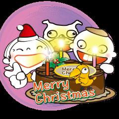 [LINEスタンプ] クリスマスとお正月年賀状