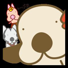 フラダンスな犬3