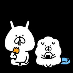ゆるうさぎ with もふ犬~よく使うことば編~