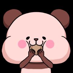 ピンク色したパンダさん