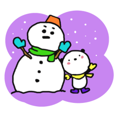 つぶらなパンダ3(冬)