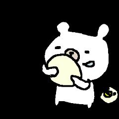 シンプルシロクマさん simple white bear