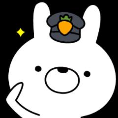 [LINEスタンプ] ポリスうさぎ (1)