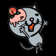 片耳がピーチな猫