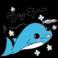 イルカのくーちゃんスタンプ<日常会話編2>