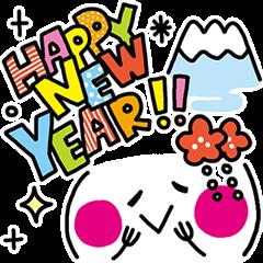 使える!【新年】お正月かおもじスタンプ