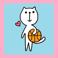 [LINEスタンプ] にゃん♡バスケ (1)