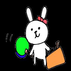 アイドルを応援するウサギ2