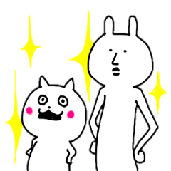 [LINEスタンプ] ああこれがウサギと猫の物語