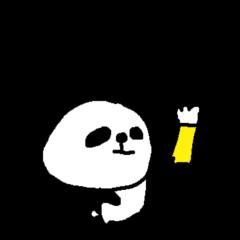 お酒大好きパンダスタンプpanda love sake!