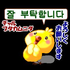 韓国語と日本語 ひよこのピヨです。