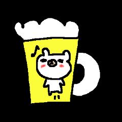 お酒大好きシロクマさん! white bear sake