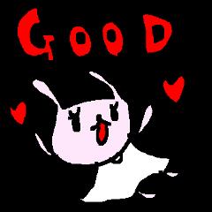 英語の愛うささんスタンプ Love rabbits