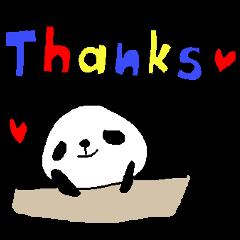 英語パンダスタンプ color font panda