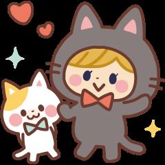 きぐるみ黒ネコちゃん