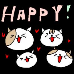 英語の愛ねこすけ love cat stickers