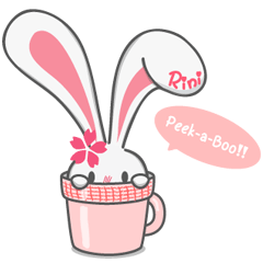 Rini Rabbit in a cup