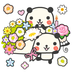 花咲くおめでとうパンダ