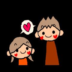 オレンジちゃんとブラウンくん カップル4