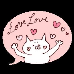 バレンタイン以外にも使えるスタンプ 猫編
