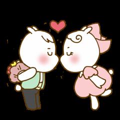可愛いウサギのカップル