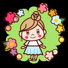 春かわいい♥大人女子スタンプ