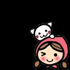 かわいい女の子と猫のイギリス英語2