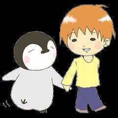 ペンギンとまもる君