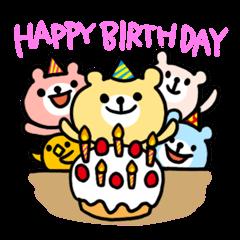 誕生日&お祝いスタンプ