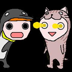 ペンギンとネコと忍者とレーザービームと桜