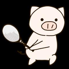 テニスのメタボぶた