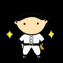 [LINEスタンプ] がんばれ野球部3【ときどき審判編】 (1)