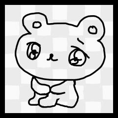 やる気がない透明のクマ