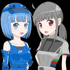 鉄道擬人化スタンプ(九州編)