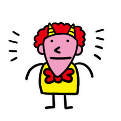 赤い元気な鬼さん