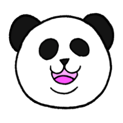 まったりパンダのパンパン顔文字スタンプ