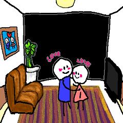 バカップル in the room.