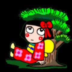 かわいい日本人形ちゃん