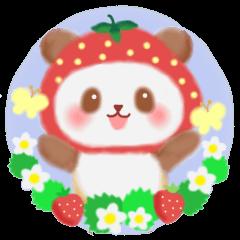 [LINEスタンプ] いちごパンダさん (1)