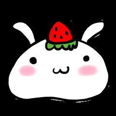 [LINEスタンプ] いちご大福うさぎちゃん