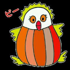 カラフル鳥のぽっぽちゃん