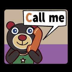 [LINEスタンプ] 愛らしクマちゃん英語コースター