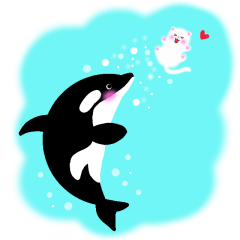 海の生き物と子猫と花と♪♪♪
