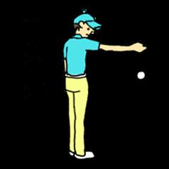 シュールなゴルフスタンプ