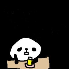 お酒大好きパンダスタンプ2panda love sake