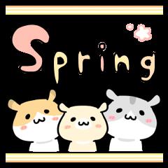 春に使えるハムちゃま