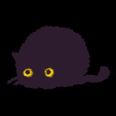 小さなまあるい黒ネコのモモさん